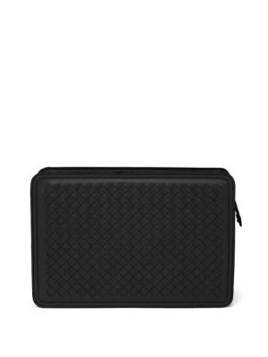 Woven Leather Cosmetic Case