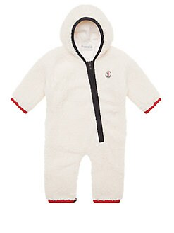 Moncler - Baby's Faux Shearling Pagliaccetto Furry Shortall