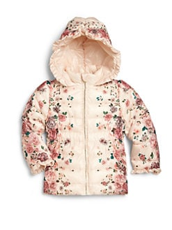 Armani Junior - Toddler's & Little Girl's Removable-Hood Floral Puffer Jacket