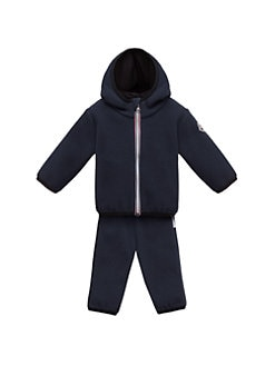 Moncler - Baby's Maglia Fleece Cardigan & Pants Set