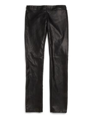 Girl's Faux Leather Leggings