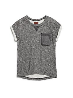 7 For All Mankind - Girl's French Terry Short-Sleeve Sweatshirt
