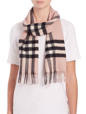 Ash Rose Giant Check Cashmere Scarf