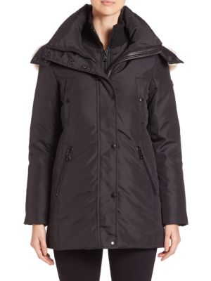 Sydney Coyote Fur-Trim Down Parka