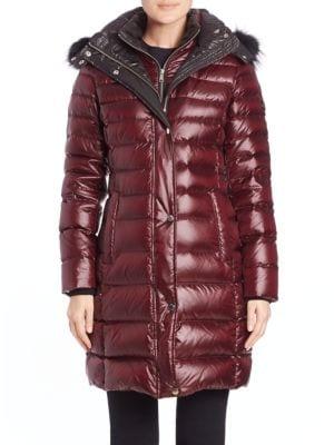 Gayle Fox Fur-Trimmed Puffer Coat