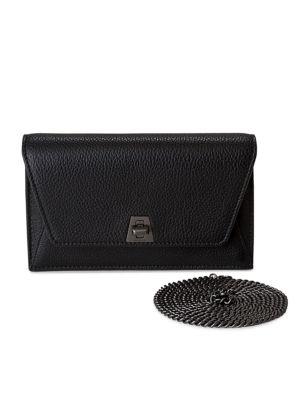 Mini Anouk Envelope Leather Crossbody Bag