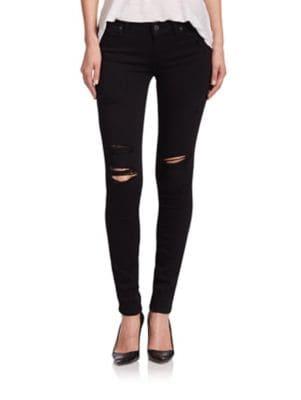 Verdugo Transcend Distressed Ultra Skinny Jeans