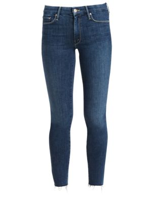 The Looker Ankle-Fray Skinny Jeans