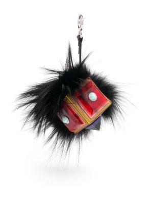 Fox Fur & Leather Prism Bag Bug