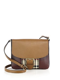 db71dc624ef4 Burberry Dickens Small Multicolor Leather   Horseferry Check Crossbody Bag