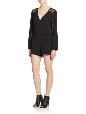 Ross Mesh-Panel Short Jumpsuit