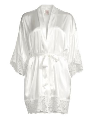 The Bride Satin & Lace Wrapper Robe