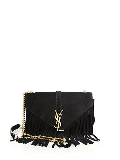 Saint Laurent Classic Baby Monogram Saint Laurent Chain Bag In Natural And Black Leopard Woven Polyester And Cotton And Black Leather