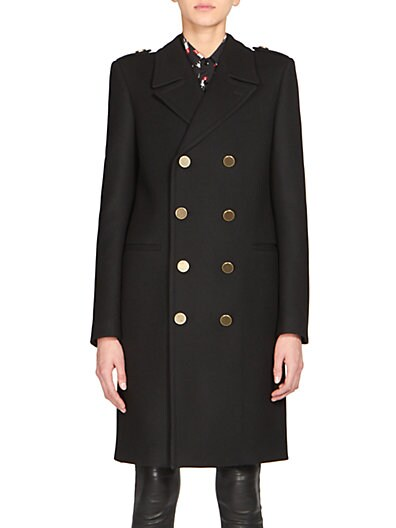 Wool Double-Breasted Coat $3,157.26 AT vintagedancer.com