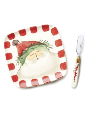 Two-Piece Old St. Nick Plate & Spreader Set