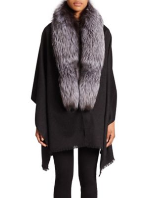 Fox Fur, Cashmere & Wool Wrap