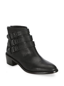 66b7fefac988 Loeffler Randall Fenton Buckled Leather Ankle Boots