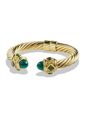 Renaissance Bracelet with Malachite and Green/Chrome Diopside in 18K Gold