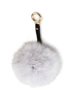 Fox Fur Pom-Pom Keychain