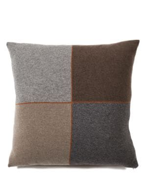 Four Checks Cashmere  Wool Pillow