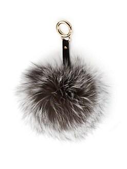 Adrienne Landau - Fox Fur Pom-Pom Keychain