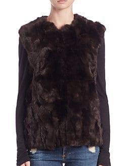Adrienne Landau - Textured Rabbit Fur Vest