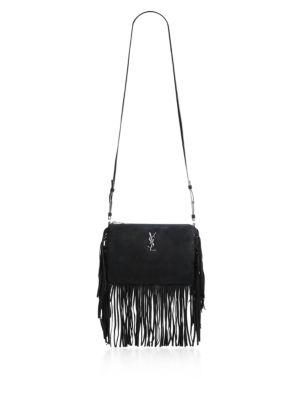 Saint Laurent Fringed Suede Crossbody Bag