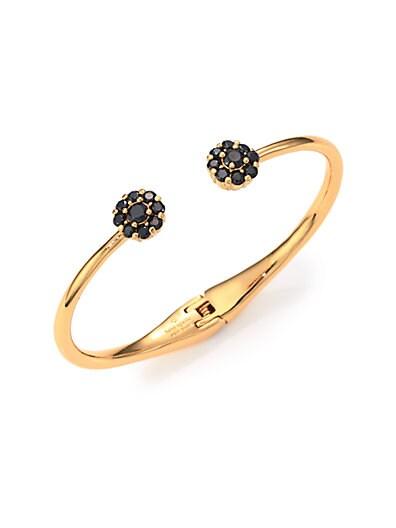 Rise & Shine Flower Bangle Bracelet/Black