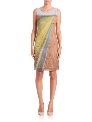 Silk Crepe Wind Turbine Sheath Dress