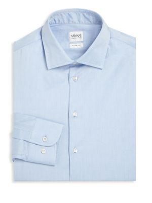 Solid Slim-Fit Dress Shirt