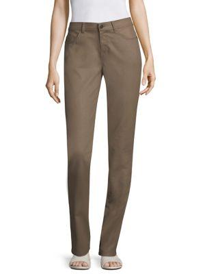 Waxed Five-Pocket Denim Skinny Jeans