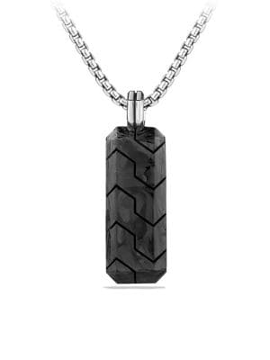 Forged Carbon Inlay Tag Necklace
