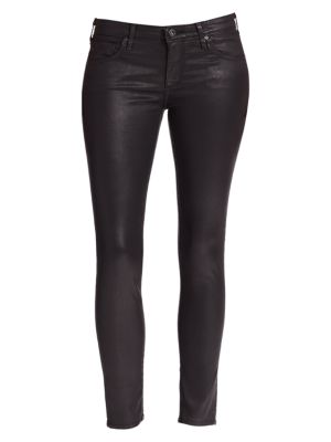 The Leatherette Legging Ankle Jeans