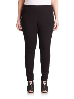 Punto Neoprene and Faux Leather Riding Leggings plus size,  plus size fashion plus size appare