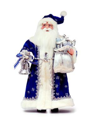 Blue Robe Santa Decoration