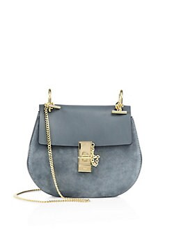 chloe drew leather suede crossbody bag