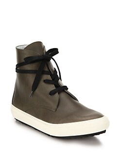 Pierre Hardy Surf City Leather High-Top Sneakers