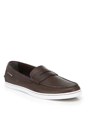 Pinch Leather Penny Loafers