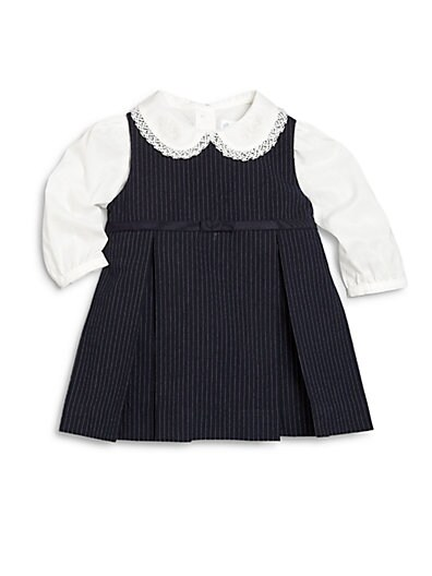 Baby's Two-Piece Pinstripe Dress & Blouse Set