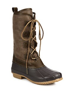 d9640b57fad Tory Burch Argyll Leather   Shearling Lace-Up Boots