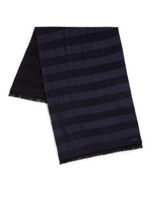 Wool-Blend Striped Scarf