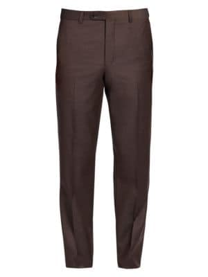 COLLECTION Wool Flat-Front Pants
