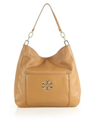 Britten Leather Hobo Bag