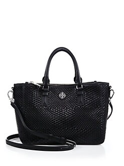 cde9640c50b Tory Burch Robinson Woven Leather Tote from Saks Fifth Avenue - Styhunt