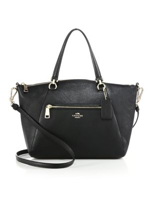 Pebbled Leather Prairie Satchel