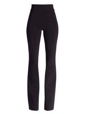Stretch-Jersey Flared High-Waist Pants