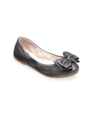 Toddlers  Kids Pearlized Leather Bow Mary Janes
