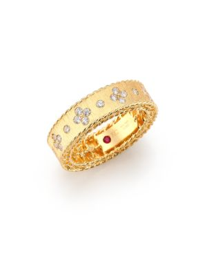 Princess Diamond & 18K Yellow Gold Band Ring