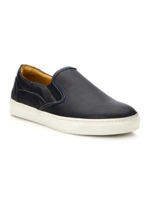 COLLECTION Perforated Leather Slip-On Sneakers