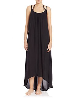 Black Biarritz Cover Up Maxi Dress by MIKOH
